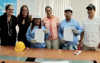 Constructora Isaba contrata mano de obra de mujeres manabitas para aportar a la reconstrucción del CRS El Rodeo de Portoviejo